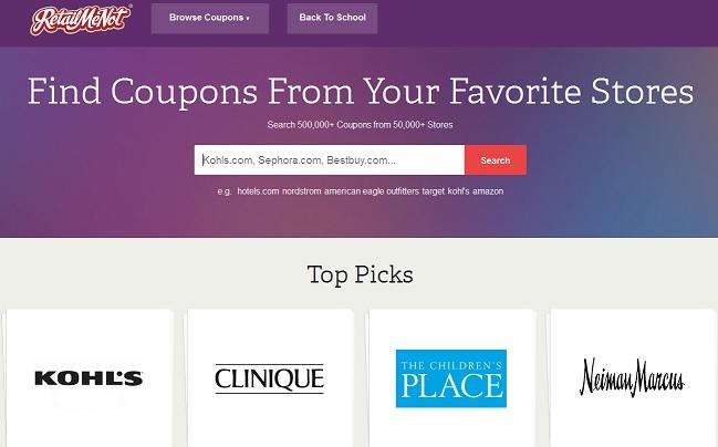 Retailmenotのサイト画面