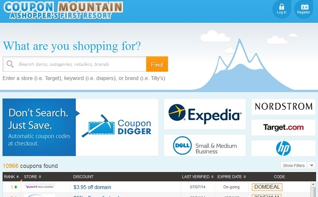 couponmountainのサイト画面