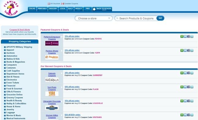 FlamingoWorldのサイト画面