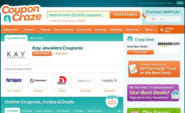 couponcrazeのサイト画面
