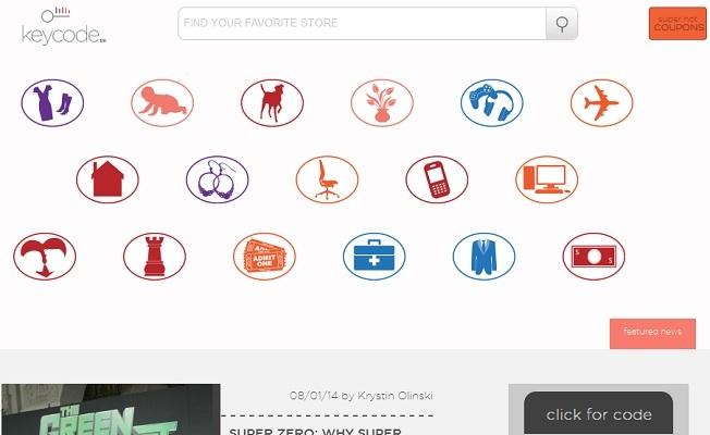 keycodeのサイト画面