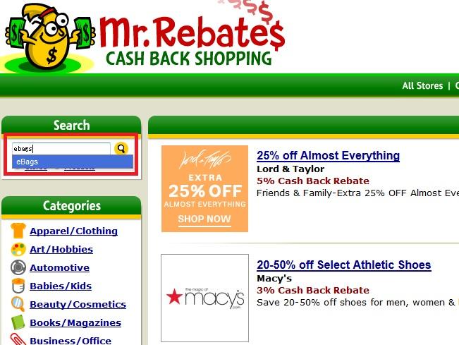 Mr.Rebatesショップ検索