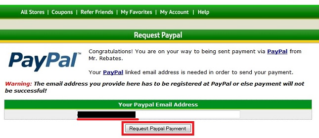 Request Paypal Payment