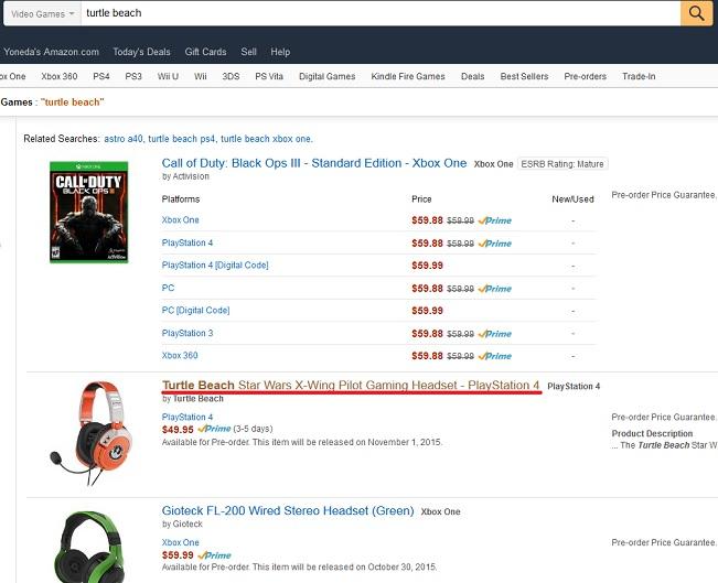 Amazon.comで新商品順で並べた結果